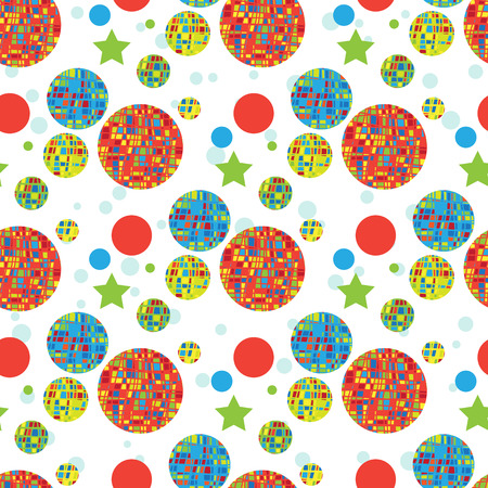 Abstract seamless background with multicolored circles.