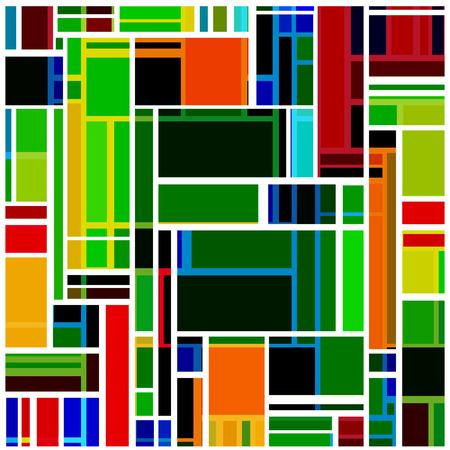 arte abstracto: Fondo brillante abstracto con rectángulos multicolores. Vectores