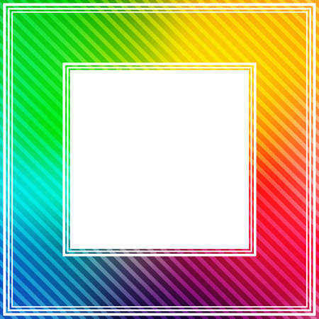 multicolored: Abstract bright rainbow colorful border.