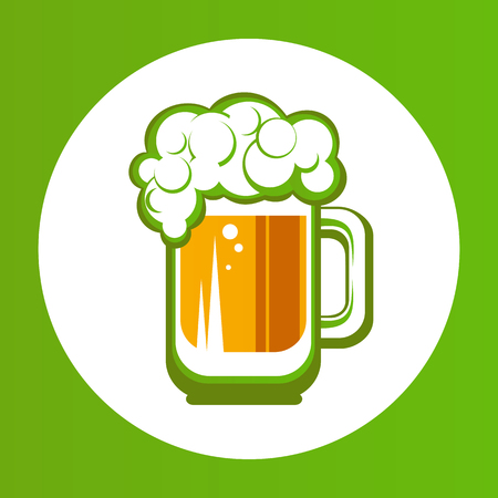 paddys: Beer mug isolated on white background. Saint Patricks Day symbol. Design element for flyers or banners.