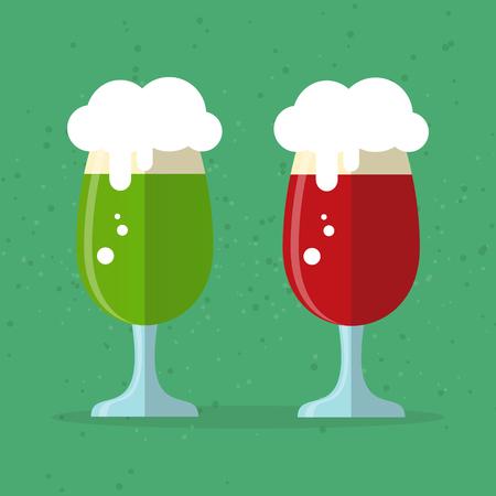 Green beer mug vector isolated. Illustration
