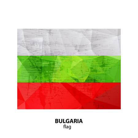 Grunge Bulgaria flag isolated on white background. Design element for flyers or banners. Illustration