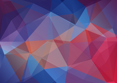 Abstract blue polygonal pattern with mosaic triangles. Design element for banners or wallpapers. Illustration