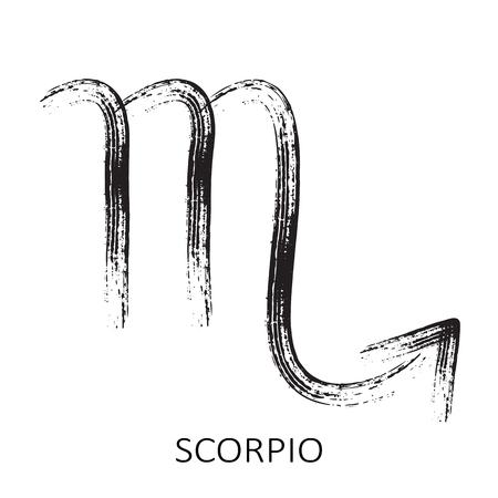 Zodiac sign Scorpio isolated on white background. Design element for horoscope and astrological forecast. Vektorové ilustrace