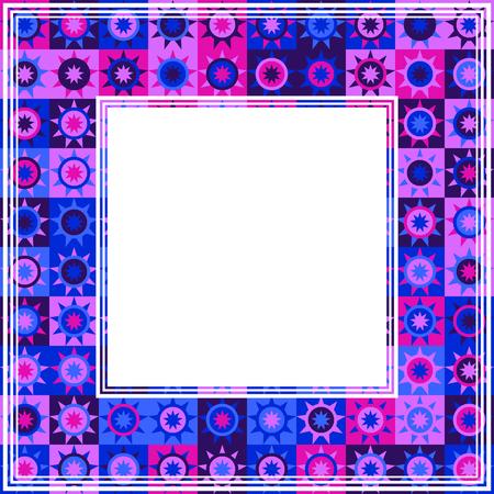 Abstract ultra violet border. Design element for photo frames. Trendy colors. Illustration