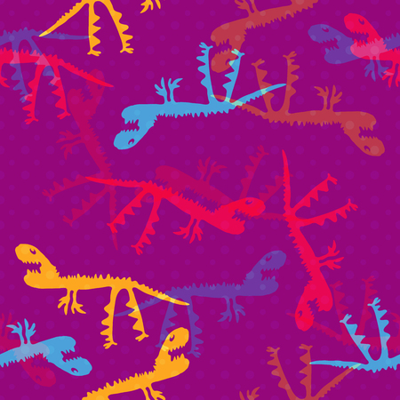 Trendy child camouflage with dinosaurs. Seamless pattern. Clothing baby style camo repeat print. Design element for fabric, wrapping paper or wallpaper.