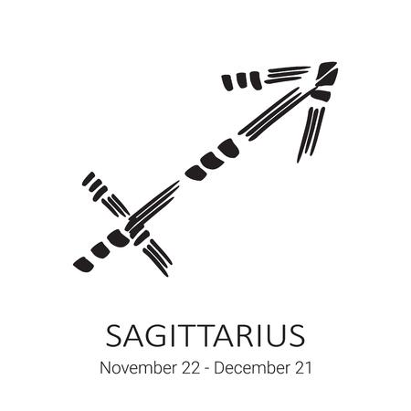 Zodiac sign Sagittarius isolated on white Vettoriali