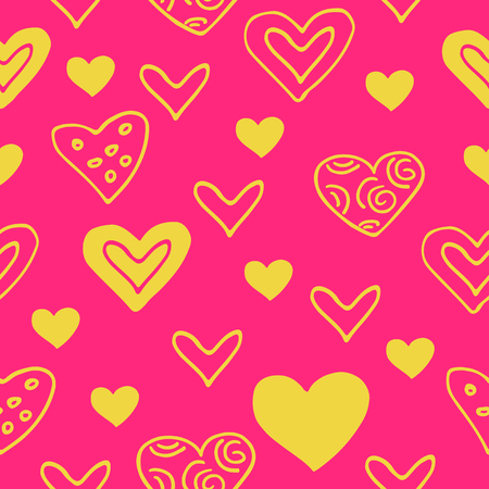 Seamless pattern with hearts. Ilustração