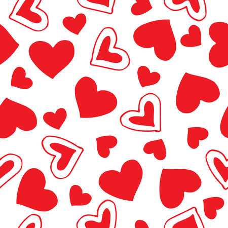 Seamless pattern with hearts. Romantic vector illustration for Valentines Day. Design element for fabric, gift wrap, wallpaper or covers. Ilustrace