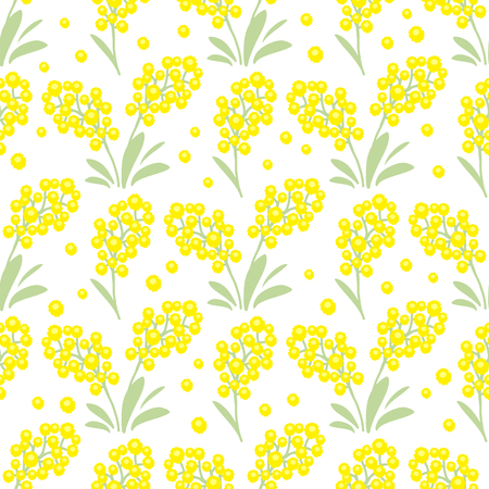 Spring flowers. Seamless pattern. Design element for fabric, gift wrap or wallpaper. Vector Illustration