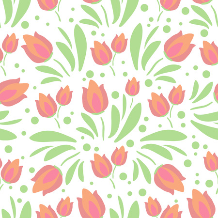 Spring flowers. Seamless pattern. Design element for fabric, gift wrap or wallpaper. Çizim