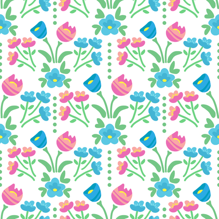 Spring flowers. Seamless pattern. Design element for fabric, gift wrap or wallpaper. Stock Illustratie