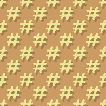 Seamless pattern with number sign. Vector illustration. Design element for wallpaper, wrapping paper or fabric.  イラスト・ベクター素材