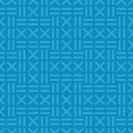 Abstract blue seamless pattern. Design element for banner, wrapping paper, wallpaper or fabric. Vector illustration. Vector Illustration