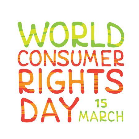Journée mondiale des droits des consommateurs. Illustration conceptuelle de vecteur. Élément de conception pour dépliant, affiche, bannière ou livret. Vecteurs
