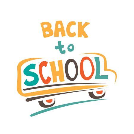 Concept d'éducation. Doodle symboles scolaires avec lettrage Back to School. Élément de design pour affiches, dépliants ou brochures. Style dessiné à la main. Vecteurs