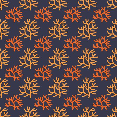 Seamless pattern with corals. Underwater life. Flat design. Vector illustration. Design element for fabric, wallpaper or wrapping paper. Zdjęcie Seryjne - 140286279