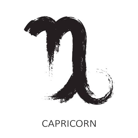 Zodiac sign Capricorn isolated on white