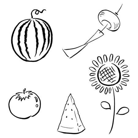 Japanese Summer Illustrations 向量圖像