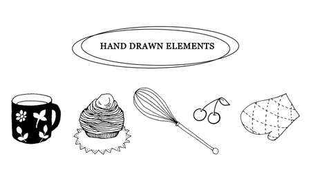 Line drawing of kitchen item