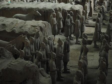 terracotta: Xian terracotta warriors and horses Museum Editorial