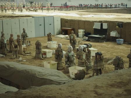 qin: Xian terracotta warriors and horses Museum Editorial