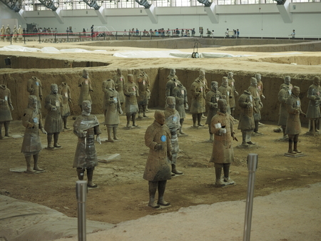 Xian terracotta warriors and horses Museum Editorial