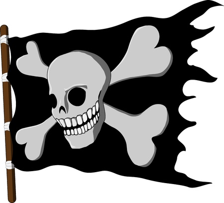 jolly roger pirate flag: Jolly Roger  flag of pirate