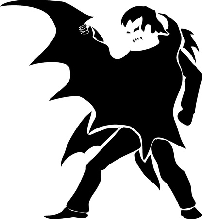 Vampire  dark silhouette  Vector