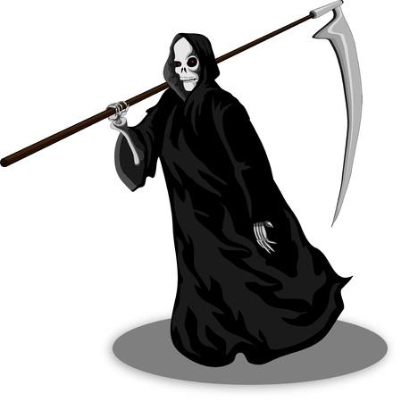 Death whith scythe Stock Vector - 15765014