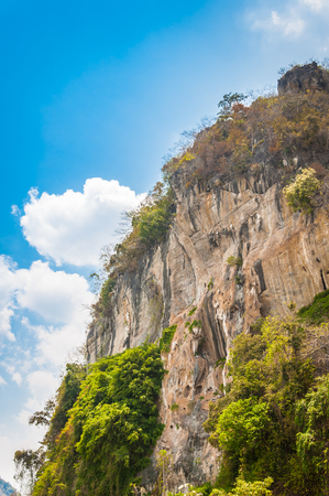 cuntry: cliff of mountain and blue sky