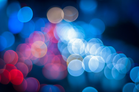 red and blue: Abstract circular bokeh background of Christmaslight