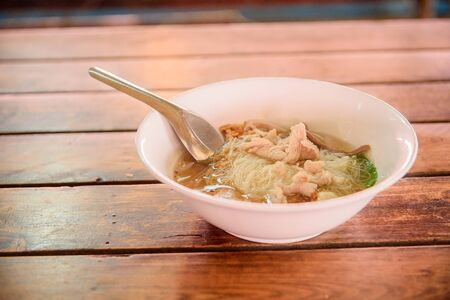 Rice noodles cooked  Stock Photo