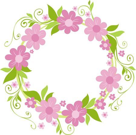 wreath: flowers