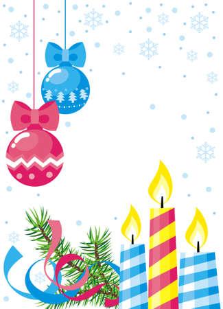Weihnachtskugel und Kerzen