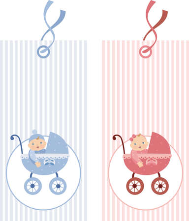 Tag with prams Stock Vector - 8463530