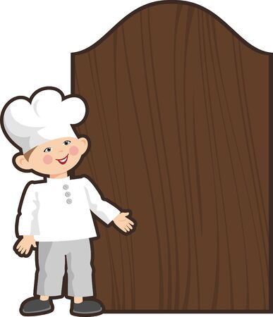 cook and a message board Vector