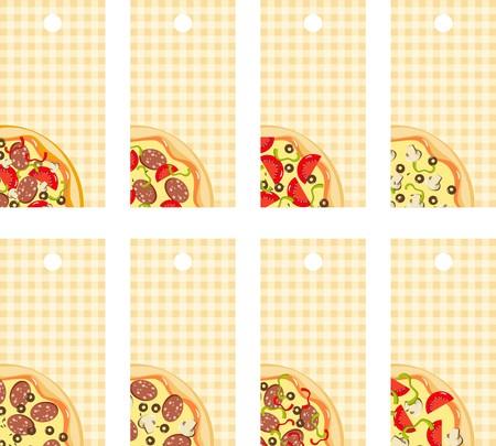 pizzeria label: Pizza de etiquetas