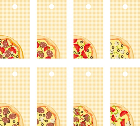 Tags pizza Stock Vector - 8495890