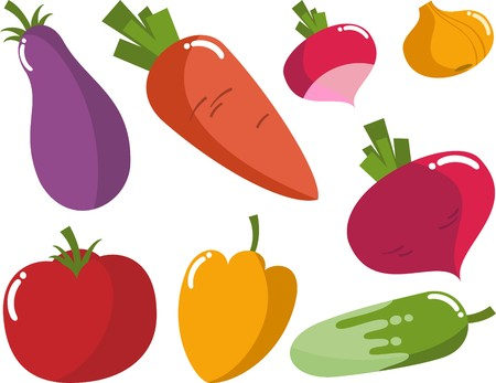 cartoon food: vegetables