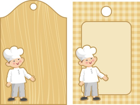 tag with the chef Stock Vector - 8621045