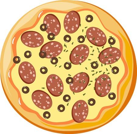 italian sausage: pizza Illustration