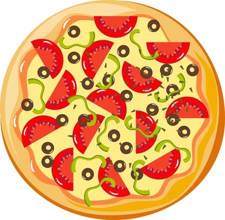 gourmet pizza: pizza Illustration