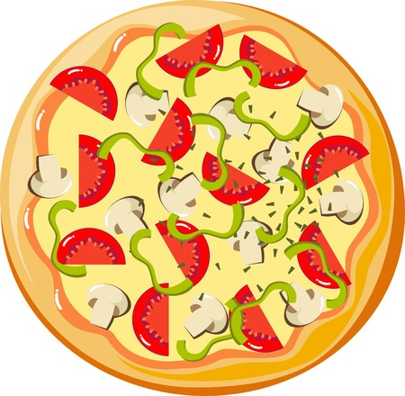vegetable cook: Pizza