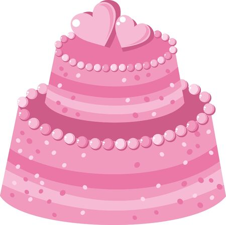 pink cake Vector