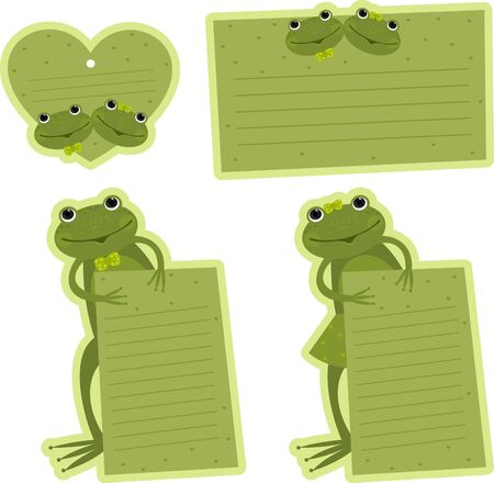 scrapbooking paper: Tag with frogs