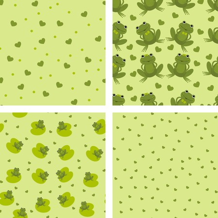 background with frogs Stock Vector - 8668495