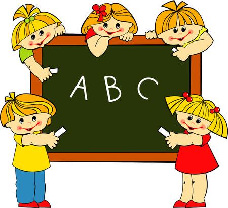 write abc: los ni�os Vectores