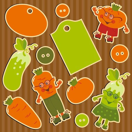 tag and sticker Vector