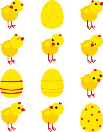 poult: pegatinas con pollos